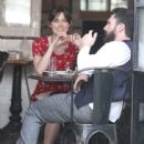 Keira Knightley and Adam Levine on Set