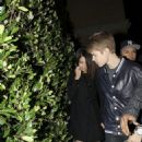 Justin Bieber and Selena Gomez spotted out to dinner, Maggianos at The Grove.in Los Angeles with  Selena Gomez last night March 1, 2011