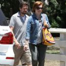 Couple Alyson Hannigan and Alexis Denisof spend some time together at a park in Brentwood, California on July 17, 2015 - 441 x 600
