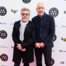 Pete Townshend and Roger Daltrey from The Who attend the Music Walk Of Fame Founding Stone Unveiling at The Jazz Cafe on November 19, 2019 in London, England - 399 x 600