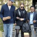 Jessica Alba Heads To Her Car With Cash Warren After Having A Lunch Meeting At The Corral Tree Cafe In Brentwood 2008-02-22