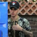 Justin Bieber is spotted outside of 'Il Pastaio' in Beverly Hills on February 25, 2016