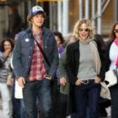 Meg Ryan and her son Jack Quaid out and about in New York City on October 04, 2015 - 401 x 600