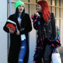 Bella Thorne – Exiting a Hair Salon Make Up Free With Sister Dani Thorne, Los Angeles 1/16/ 2017 - 454 x 683