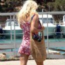 Pamela Anderson Candids In Portocervo