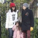 Ronnie Wood, 73, steps out with wife Sally, 43, and their daughters - April 2021 - 306 x 478