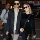 Brie LarsonandAlex Greenwald at LAX Airport in Los Angeles - 454 x 827