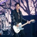 Johnny Depp is seen performing with his band Hollywood Vampires at 'Jimmy Kimmel Live' in Los Angeles, California on June 13, 2019 - 454 x 599