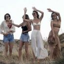 Alessandra Ambrosio in Bikini Top at Kensho Psarou Beach in Mykonos