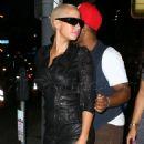 Amber Rose and Drake Leaving Voyeur Nightclub in Philadelphia, Pennsylvania - September 11, 2010 - 454 x 551