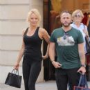Pamela Anderson in Black Outfit – Out in Paris