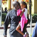 Seal is seen watching his kids Leni, Henry and Johan play soccer in Brentwood, California on January 31, 2015 - 454 x 544