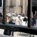 Lady Gaga – Wears a wedding dress on the set of the 'The House of Gucci' in Rome