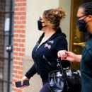 Mariah Carey – Wearing body hugging tights and heels in New York - 454 x 482