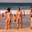 Izabel Goulart in Black Bikini at the beach in Brazil - 454 x 303