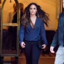 Demi Lovato – Heading to the Kendrick Lamar Concert in NYC