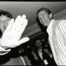 Mick Jagger & Arnold Schwarzenegger, Hôtel du Cap, Antibes, 1990