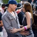 "Tyler (Ross Thomas, left) prepares to dance with Nora (Christina Murphy, right) in the comic spoof ""Dance Flick."" Photo Credit: Glen Wilson. Copyright ©2009 by PARAMOUNT PICTURES CORPORATION. All Rights Reserved. - 454 x 301"