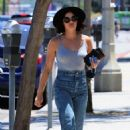 Lucy Hale – In jeans out for coffee in Los Angeles