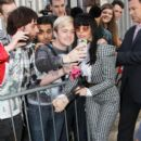 Lady Gaga meets and greets her fans outside the Roundhouse after rehearsing for her 'I tunes Festival' gig in London