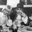 Anita Pallenberg, Brian Jones and Stash Klossowski De Rola at Cannes Film Festival, May the 6th 1967