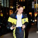Gigi Hadid in a Polo Sport Track Suit – Arrives home in NYC
