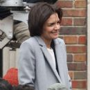 Katie Holmes – Filming a press conference scene for her new Untitled FBI/Fox project in Chicago - 454 x 681