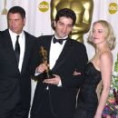 John Travolta, Danis Tanovic and Sharon Stone - The 74th Annual Academy Awards (2002)
