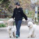 Kathryn Newton – Walking her dogs in Los Angeles - 454 x 366