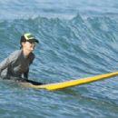 Helen Hunt in Bikini Top surfing in Hawaii - 454 x 303
