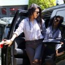 Kourtney Kardashian takes her children Reign & Penelope to a music class in Beverly Hills, California on April 14, 2016
