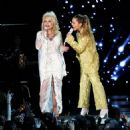Dolly Parton and Miley Cyrus At The 61st Annual Grammy Awards - 454 x 474