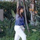 Kourtney Kardashian: arrived at Jenner Productions' office in Woodland Hills