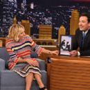"Sienna Miller Visits ""The Tonight Show Starring Jimmy Fallon"" at Rockefeller Center on January 13, 2015 in New York City"