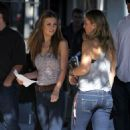 Audrina Patridge filming her new VH1 reality show in West Hollywood, Sunday morning January 23, 2011