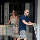 "Action star Jason Statham and girlfriend Rosie Huntington-Whiteley are spotted doing some grocery shopping during the July 4th weekend in Malibu. Staham will next appear in ""Killer Elite"" alongside Clive Owen and Robert De Niro"