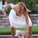 Ashley Tisdale Walking Her Dog In Beverly Hills