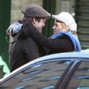 Sebastian Stan and Margarita Levieva stopped for a kiss while shopping in New York City on Sunday