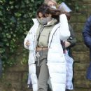 Michelle Keegan – on the set of 'Brassic' in Lancashire - 454 x 668