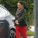 Mila Kunis in Red Pants – Out in Los Angeles - 454 x 681