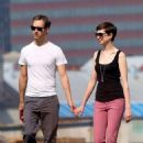 Anne Hathaway and fiance Adam Shulman walking Esmeralda in Brooklyn, NY (August 25) - 454 x 659