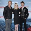 Emma Stone and Andrew Garfield attended a photo call for their new film The Amazing Spider-Man today, June 20, in Berlin