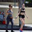 Jayde Nicole in Tiny Shorts – Hiking with a female friend in the Hollywood Hills - 454 x 484