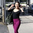 Brittany Cherry in Tights at DWTS Studio in Los Angeles - 454 x 681