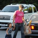 Olivier Martinez and his son Maceo Martinez are seen out and about in Beverly Hills Ca