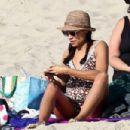 Rosario Dawson on the beach in Los Angeles - 454 x 303