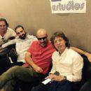 Rancaño, Alain Pérez, Andres Levin and Mick Jagger at Abdala Estudios, in Havana, Cuba