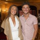 Happy? Megan McKenna and Jordan Davies' love is well and truly in the past, fans were reminded of their Ex On The Beach-formed romance when a message appeared on his Twitter account on Wednesday