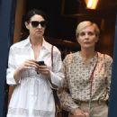 Monica Bellucci in White Dress out in Paris