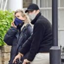 Vanessa Kirby – with her parents checking out Georgian style 3 story house in North London - 454 x 534